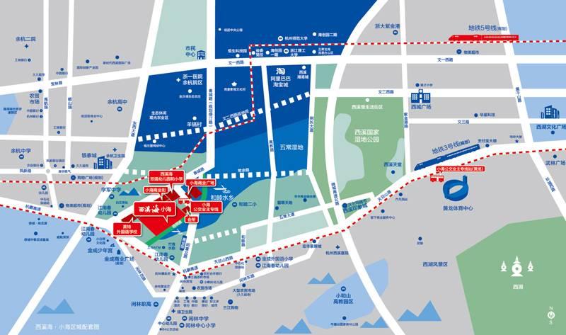 融创金成西溪海交通图