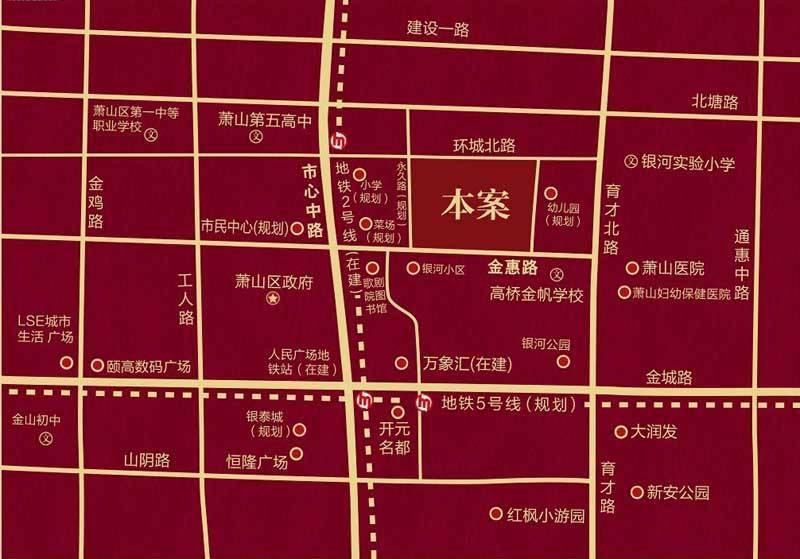 绿城九龙仓钱塘明月交通图