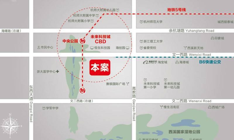 西溪永乐城·景上交通图
