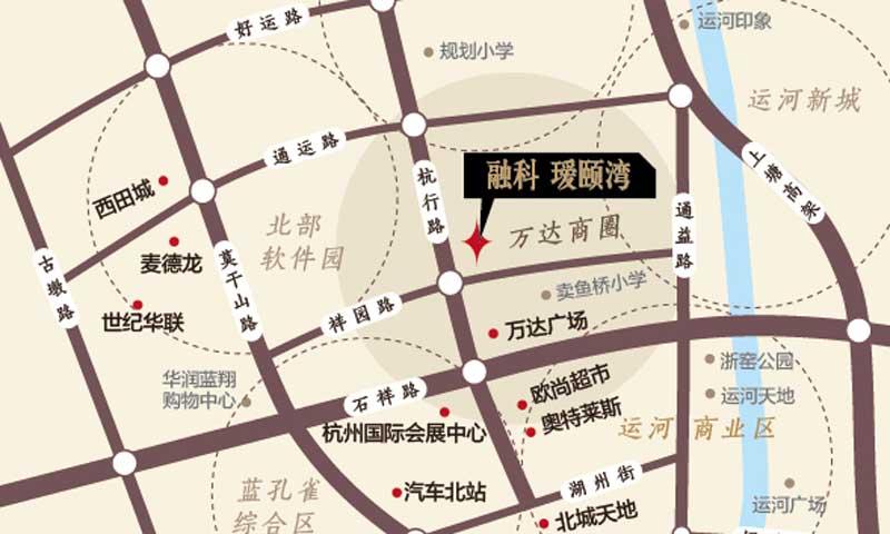 融创瑷颐湾交通图