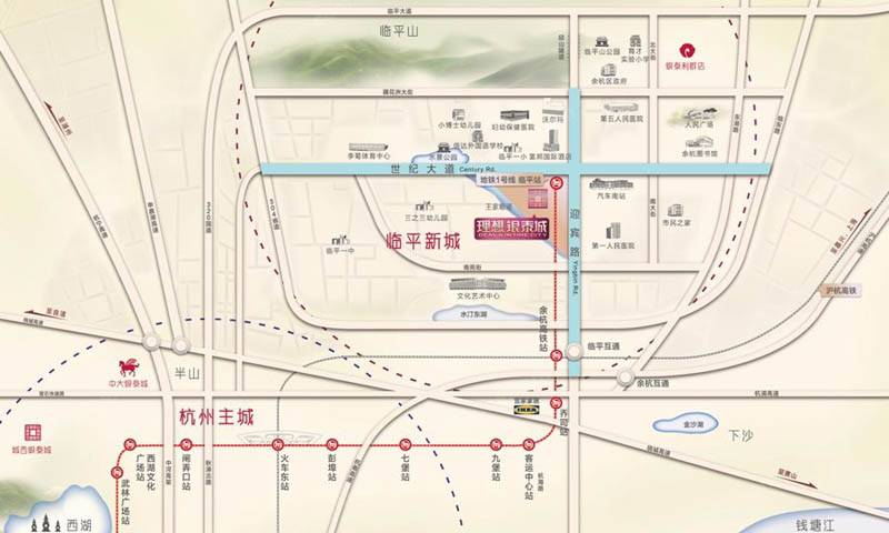 理想银泰城(商铺)交通图