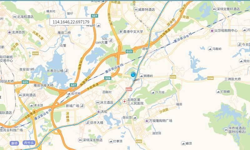 荣德国际交通图