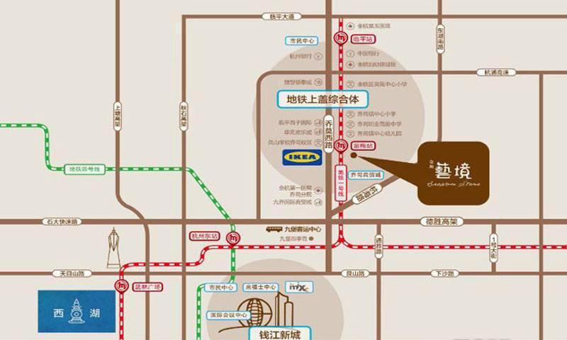 金地艺境交通图
