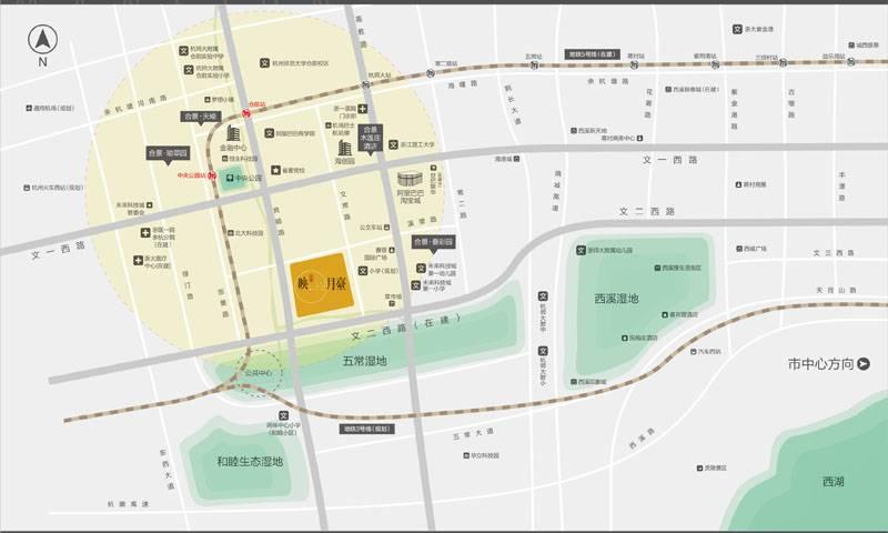 合景映月台交通图