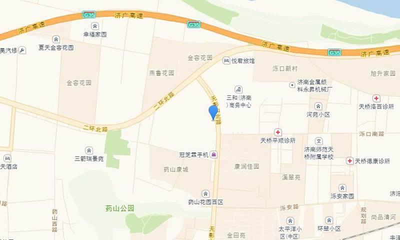 荣盛花语馨苑交通图