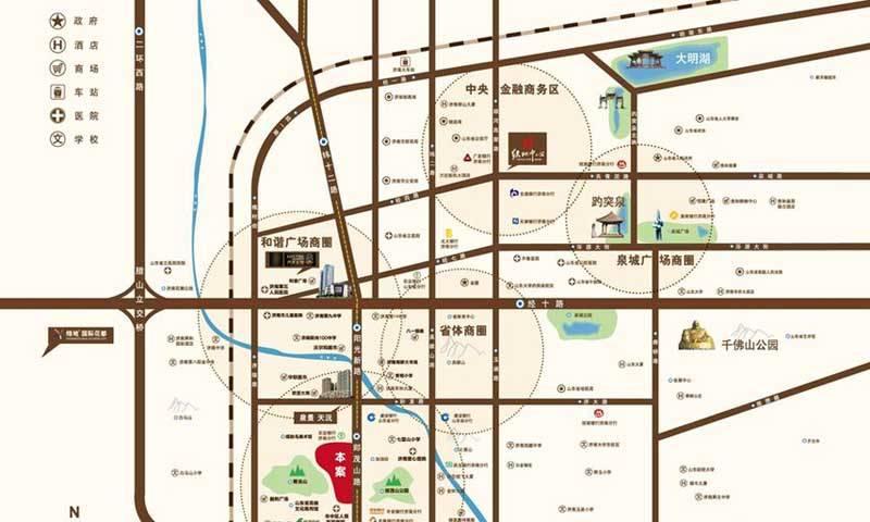 绿地海珀天沅交通图