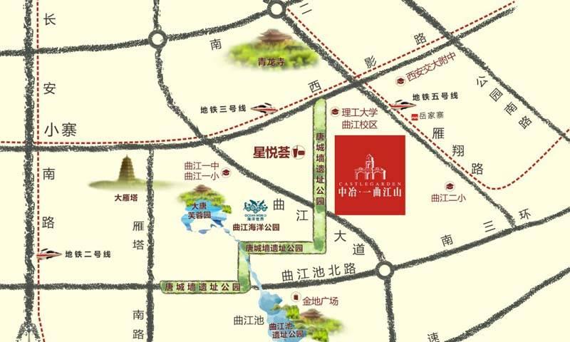 中冶一曲江山交通图