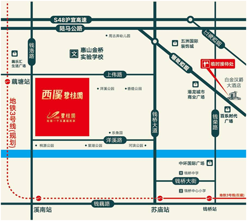 西溪碧桂园交通图