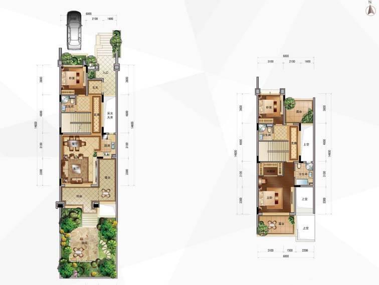 合景誉山国际IHOUSE联排别墅户型图户型